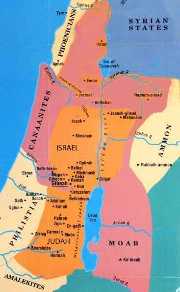 map-israel-king-saul